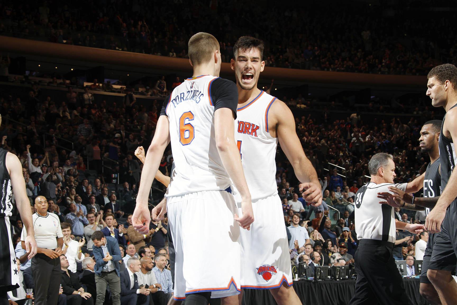 Knicks Porzingis Hernangomez Nets Away 110916